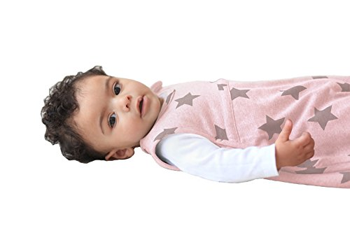 Merino Kids Starry Nights Baby Sleep Bag For Babies 0-2 Years, Dusky Pink
