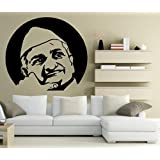Decal Style Anna Hazaare Wall Sticker Large Size-24*22 Inch