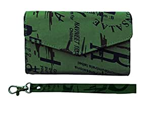 ATV Printed Pouch Case Flip Cover With Ditachable Strap For Motorola RAZR XT910