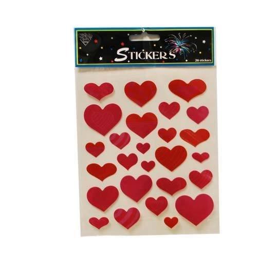 Valentine Heart Stickers (84pc)
