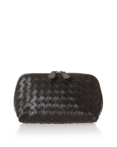 BOTTEGA VENETA Women's Intrecciato Nappa Cosmetic Case, Nero
