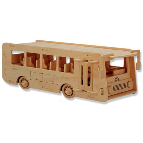 3-D Wooden Puzzle - Coach Bus Model -Affordable Gift for your Little One! Item #DCHI-WPZ-P092