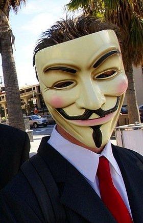 秘密集団! V for Vendetta Mask マスク ガイフォークス 仮面 アノニマス PVC製 マスク 代表色(クリーム色) ヴェンデッタマスク guy fawkes mask 映画 【空縁隊】