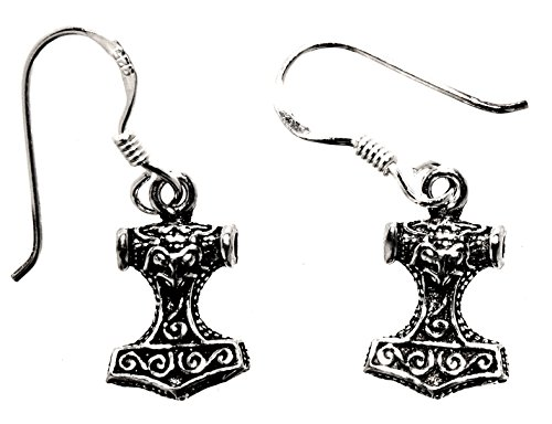 Dormono martello di Thor orecchini in argento Sterling 925