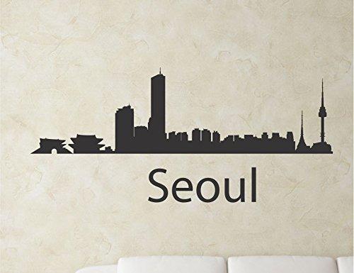 Seoul South Korea City Skyline Vinyl Wall Art Decal Sticker front-784951