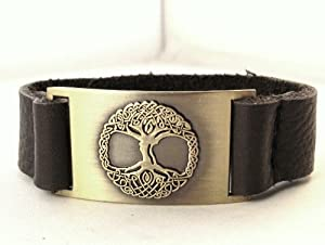 Tree of Life Bracelet, Leather, Adjustable
