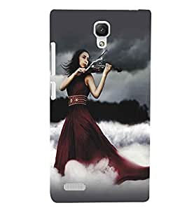 XIAOMI REDMINOTE MUSIC GIRL Designer Back Cover Case By PRINTSWAG