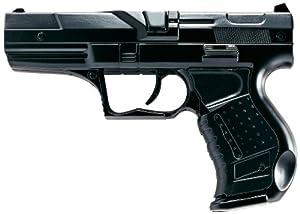 Villa Giocattoli 1240 - Pistola Giocattolo in Metallo a 8 Colpi 125 dB, Polizia Nero