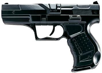 Villa Giocattoli 1240 - Pistola Giocattolo in Metallo a 8 Colpi 125 dB, Polizia Black