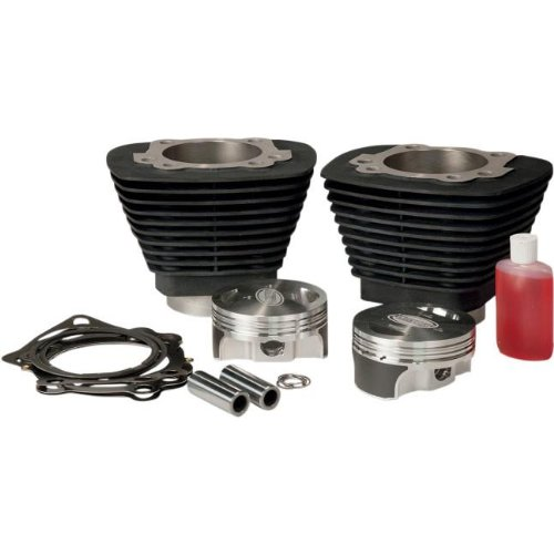 Revolution Performance Bolt-On Big Bore Kit (1250cc Forged) - Bore 3-9/16in. - 10.5:1 Compression - Black 201-520W