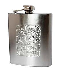 Jack Daniel's Design Embossed 10oz (296 ml) Stainless Steel Hip Flask by Gadgetbucket