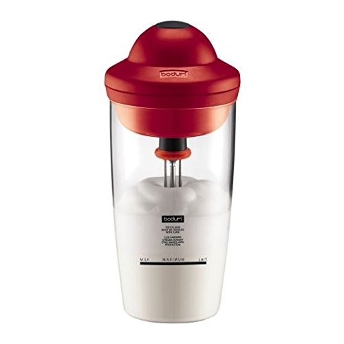 Bodum Latte Battery Operated Milk Frother (0.2L / 6Oz) - Red
