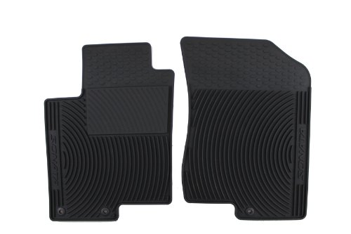 Genuine Hyundai Accessories U8130-3K101 Black Front All Weather Floor Mat with Sonata Logo for Hyundai Sonata
