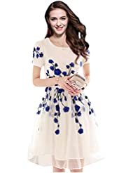 Kyrozz Designer Latest White & Blue Colour Semi Stitched Western Wear
