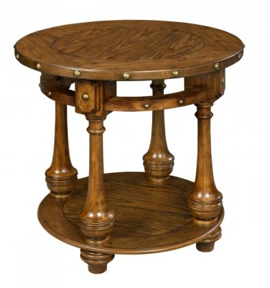 Image of 138-023 Kensington Collection Rustic End Table with Nail Head (B003ZVOXD6)