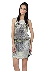 Liwa Green Polyester Dress For Women