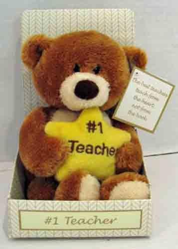 Gund #1 Teacher Bear with Star