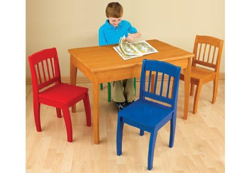 Kidkraft Euro Honey Table & 4 Chairs front-1034577