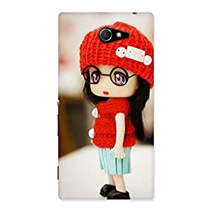 AJAYENTERPRISES Red Radiant Tiny Little Girl Back Case Cover for Sony Xperia M2
