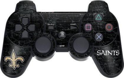 Nfl - New Orleans Saints - New Orleans Saints Distressed - Sony Ps3 Dual Shock Wireless Controller - Skinit Skin