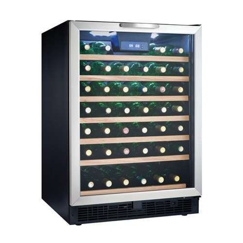 Best Prices! Danby DWC508BLS 50 Bottle Designer Wine Cooler - Black/Stainless