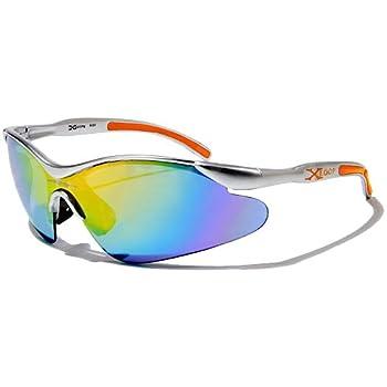 X-Loop Lunettes de Soleil - Sport - Cyclisme - Ski - Conduite - Motard / Mod. 3529 Gris Orange / Taille Unique Adulte / Protection 100% UV400