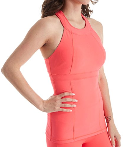 MSP by Miraclesuit Essentials Firm Control Shelf Bra Tank, S, Bright Coral