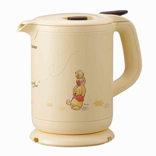 Zojirushi Electric Kettle [800 Ml] Winnie The Pooh With Melody Yellow Ck-Fz08P-Ez By N/A