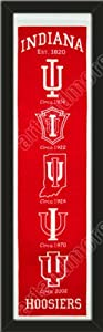 Heritage Banner Of Indiana Hoosiers-Framed Awesome & Beautiful-Must For A... by Art and More, Davenport, IA