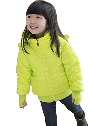 Girl'S Winter Clothing Angel Wings Children Outerwear Hoody Cotton-Padded Jacket (5-6T (120 Cm))