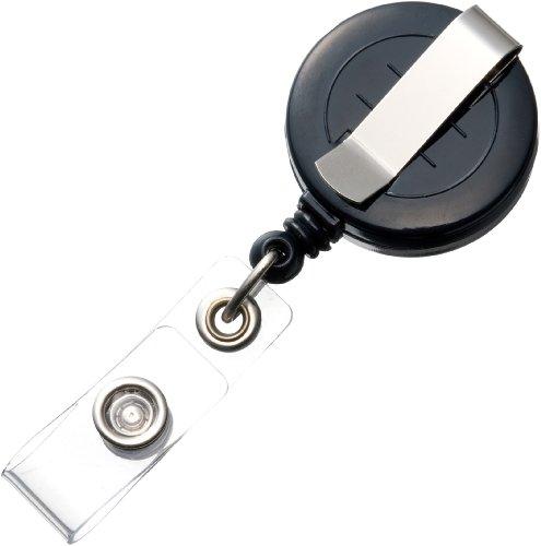 Oficina y depósito de carrete clips (longitud del carrete: longitud máxima 70 cm) negro 3-Pack