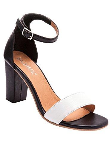 Balsamik - Sandali in pelle bicolore - - Size : 40 - Colour : Nero/Bianco