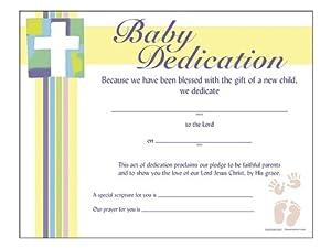 certificate of baby dedication 6 pack