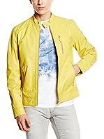 Trussardi Jeans Americana Piel Hombre (Amarillo)