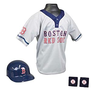 Boston Red Sox Mlb Youth Helmet And Jersey Set by Franklin
