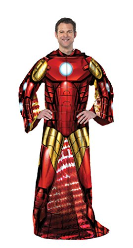 """Marvel Ironman, Being Ironman Adult Comfy Throw by The Northwest Company, 48 by 71"""""""