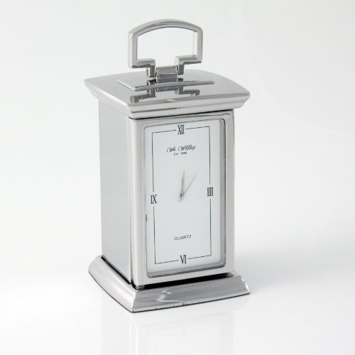 Personalised Palladium Carriage Clock