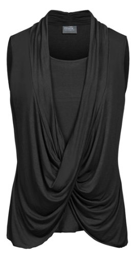 Milk Nursingwear Women'S Infinity Nursing Top-S-Black