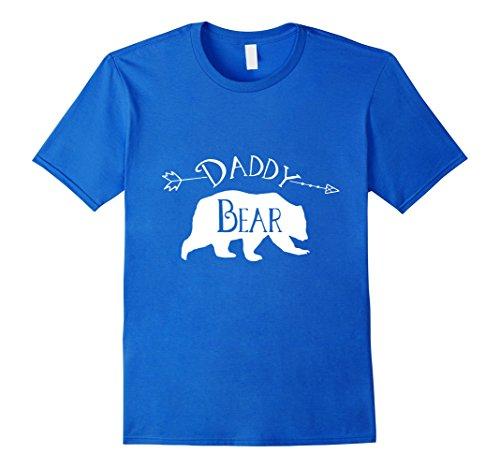 Men's Daddy Bear Shirt - Mens Bear Shirt - Arrow Print Shirt Small Royal Blue (Daddy Bear Shirt compare prices)