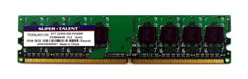 Super Talent DDR2-533 512MB/64MX8 CL4 Memory T533UA512H, Bulk