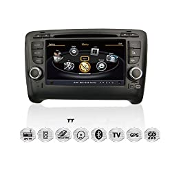See susay for Audi TT 2006-2013 Car DVD Player With GPS Navigation(free Map)Audio Video Stereo System with Bluetooth , USB/SD, AUX Input, Radio(AM/FM), TV, Plug & Play Installation Details