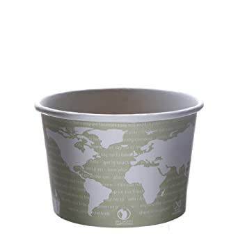 Eco-Products EP-BSC16-WA 16 oz World Art Soup Cup Container (Case of 500)