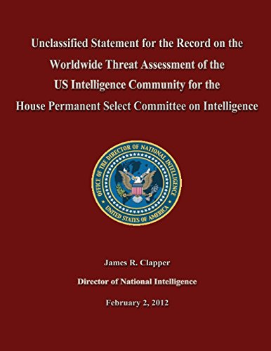Unclassified Statement for the Record on the Worldwide Threat Assessment of the US Intelligence Community for the House Permanent Select Committee on Intelligence