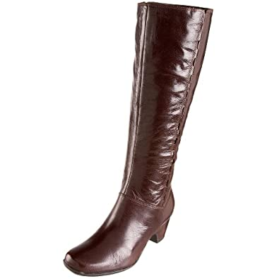 Clarks Women's Cardy Boot,Cafe Brown Leather,11 M US