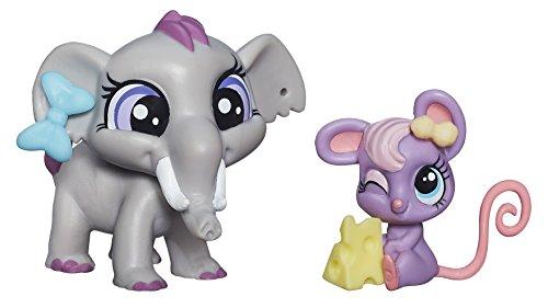 Littlest Pet Shop, Pet Pawsabilities, Fletcher von Trunk Teensie Fromage [Elephant & Mouse] - 1