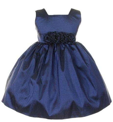 Sweet Kids Baby-Girls Sleeveless Flower Girl Dress With Rolled Flower Waistband