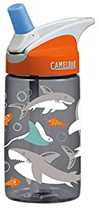 CamelBak Kids Eddy Water Bottle, 0.4 L, Sharks