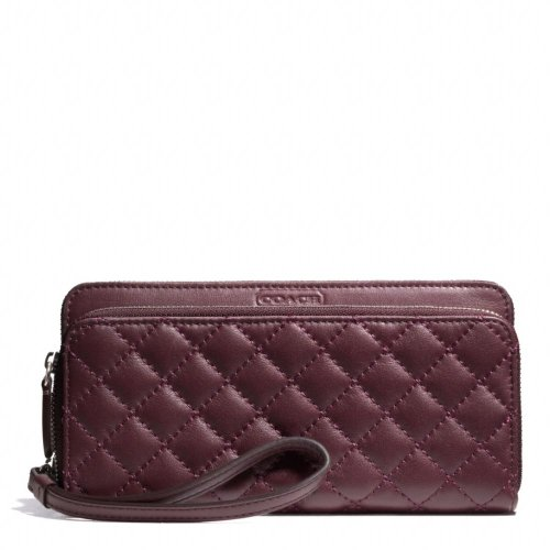 Coach   Coach Park Quilted Leather Double Accordion Zip F49870