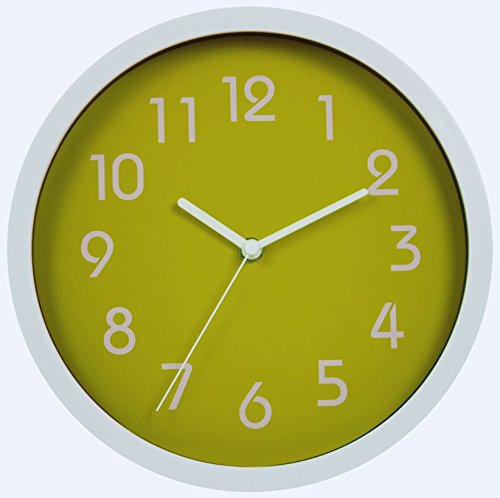HITO™ Modern Colorful Silent Non-ticking Wall Clock- 10 Inches (Green)