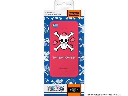 レイアウト iPhone4シリーズ用ワンピース海賊旗コレクションシリコンジャケット チョッパーRT-OP3A/CH